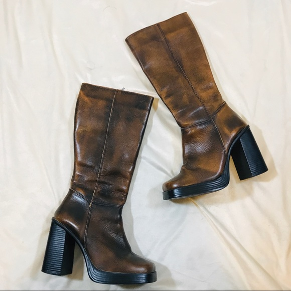 bd204ec4128 ... Vintage Leather Chunky Boots. M 5bc41ce1d6dc52da98d3d978. Other Shoes  you may like